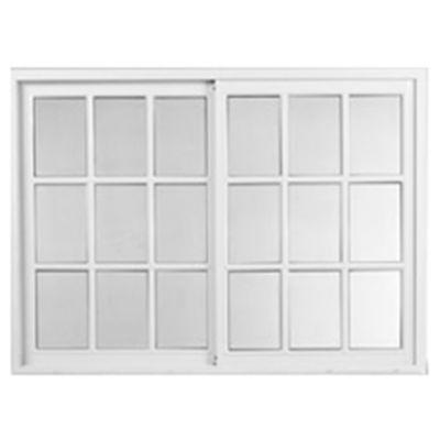 Ventana de aluminio blanca vidrio repartido 150...