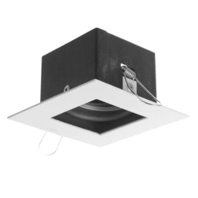 Embutido de techo uno luz móvil blanco