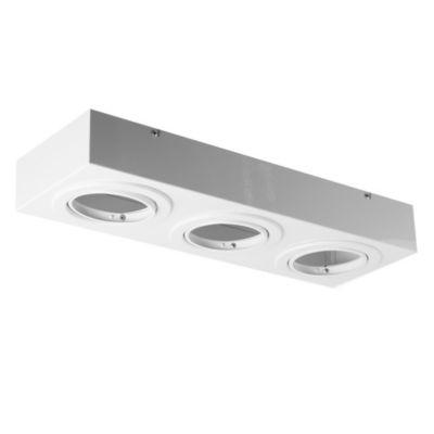 Plafón de techo tres lucesmóvil blanco ar111