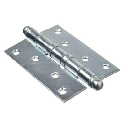 Bisagra tipo munición para madera 100 x 75 reforzada zincado