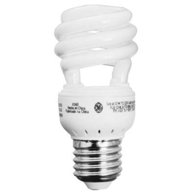 Lámpara bajo consumo helicoidal 12w cálida l E27