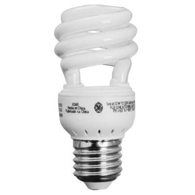 Lámpara bajo consumo helicoidal 12w fría e27