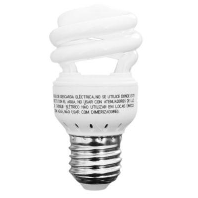 Lámpara bajo consumo helicoidal 8w cálida e27