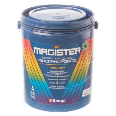 Esmalte al agua Magister negro 4 l