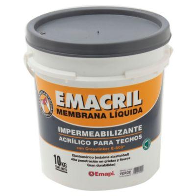 Impermeabilizante para techos emacril verde 10 kg