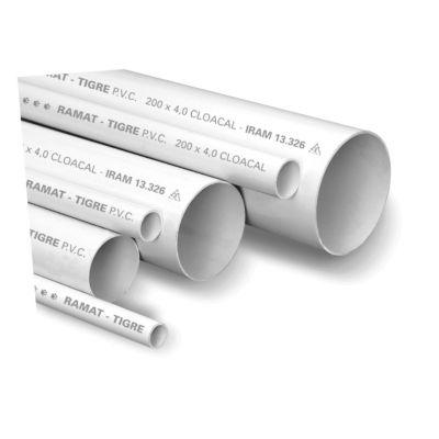 Caño PVC de 40 mm x 1 m
