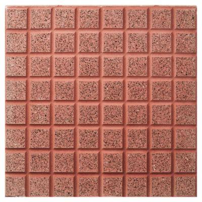 Baldosón piso recto rojo y negro 40 x 40 cm