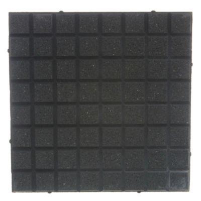 Baldosón piso recto negro y negro 40 x 40 cm