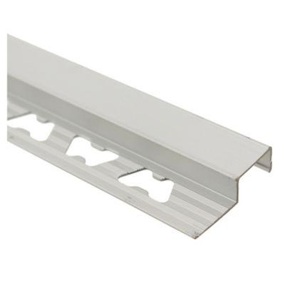 Nariz de escalón aluminio cromo mate