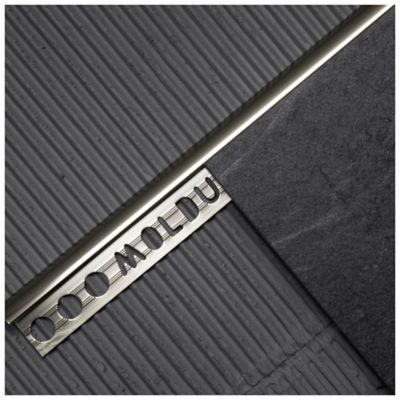Guardacanto aluminio cromo mate 9 mm