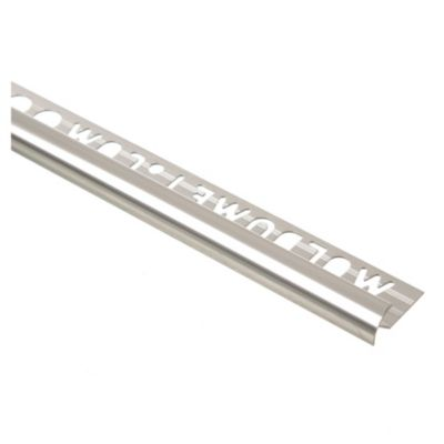 Guardacanto aluminio cromo brillante 9 mm