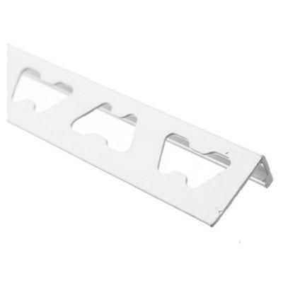Perfil l aluminio blanco 10 mm