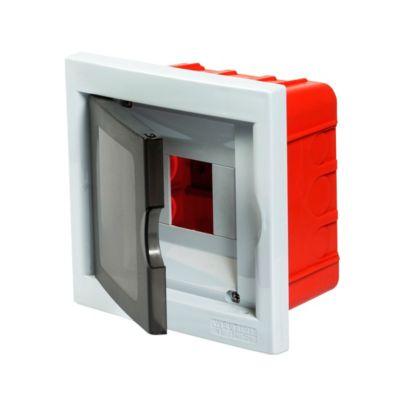 Caja plástica de empotrar ip40 4 módulos