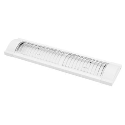 Tubo de techo para cocina dos luces Louv rejilla blanco 20 w