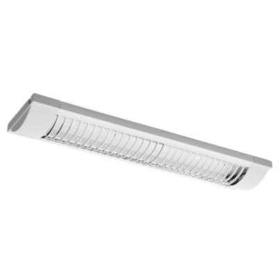 Tubo de techo para cocina dos luces Louv rejilla plata 20 w