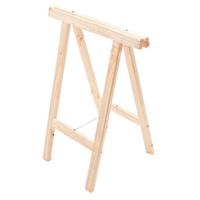 Caballete de madera de pino 60 x 44 x 2,5 cm
