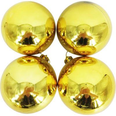 Set 4 esferas 9 cm oro brillante