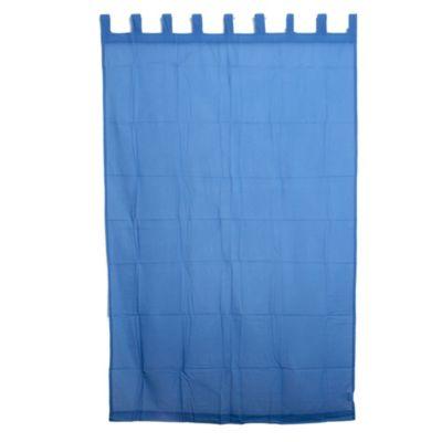 Cortina velo liso azul 140 x 220 cm