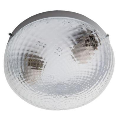 Plafón de techo dos luces boina vidrio blanco 20 cm e27