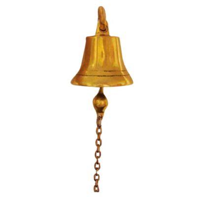 Campana bronce pulido 7 cm con Ménsula