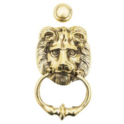 Llamador bronce cabeza de león