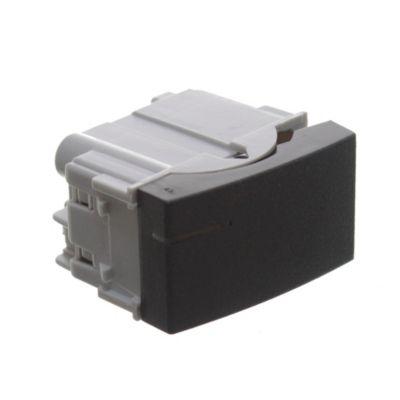 Módulo 1 interruptor de combinación tecla elevada negro
