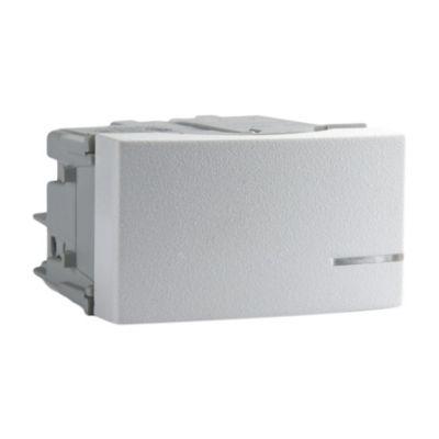 Módulo 1 interruptor tecla elevada blanco