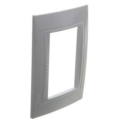 Tapa plástica rectangular blanca línea base