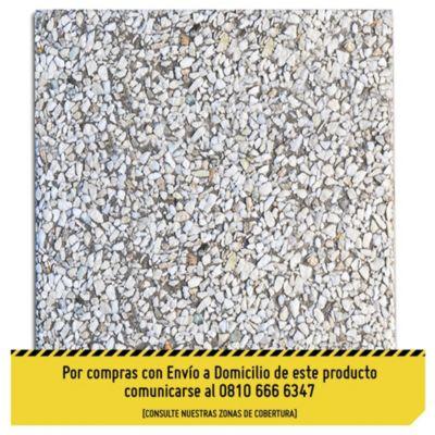 Baldosón blanca córdoba fondo gris piedra 40 x 40 cm