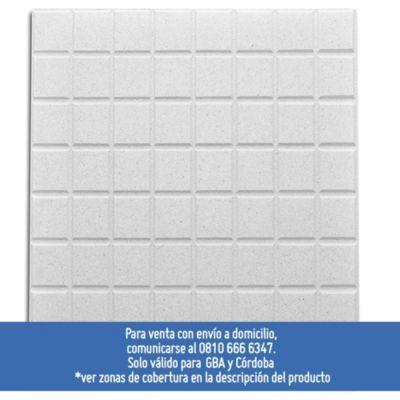 Adoquín recto puro blanco puro 40 x 40 cm
