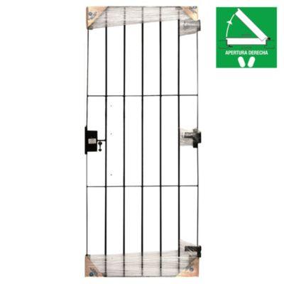 Puerta reja 80 x 200 x 10 cm derecha