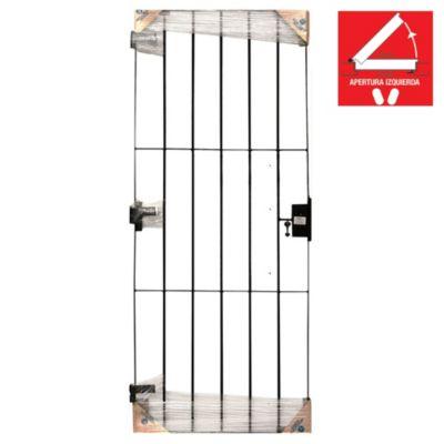 Puerta reja 80 x 200 x 10 cm izquierda