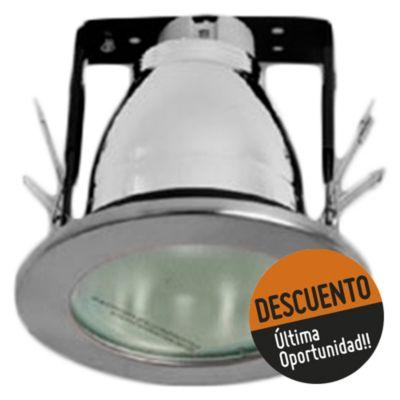 Spot embutdo uno luz trompa chico vidrio níquel satinado E27