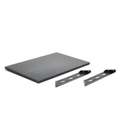 Kit soporte + estante negro 40 x 60 x 40 cm