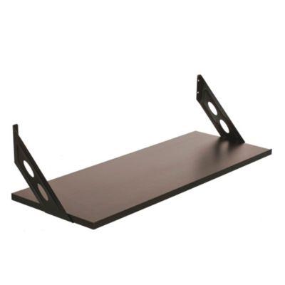 Kit soporte + estante negro 30 x 80 x 30 cm
