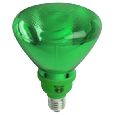 Lámpara bajo consumo par38 25w verde E27
