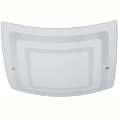 Plafón de techo dos luces horus vidrio 40 cm e27
