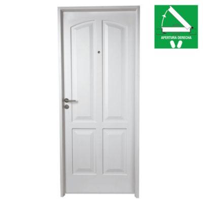 Puerta inyectada 4 tableros 80 x 200 x 10 cm de...