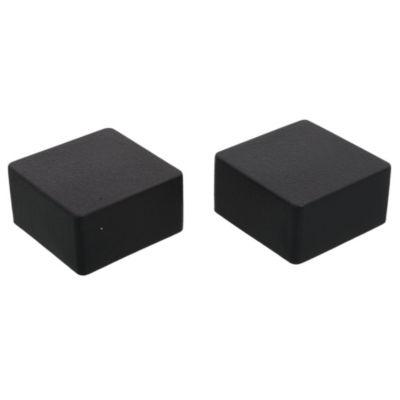 Regatón plástico cuadrado 40 x 40 por 2 u