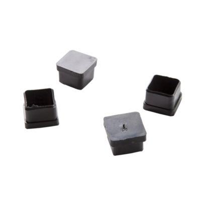 Regatón plástico cuadrado 1-1/4 por 4 unidades
