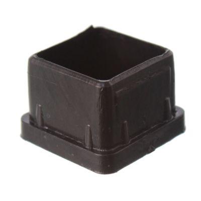 Regatón plástico cuadrado 1 por 4 unidades