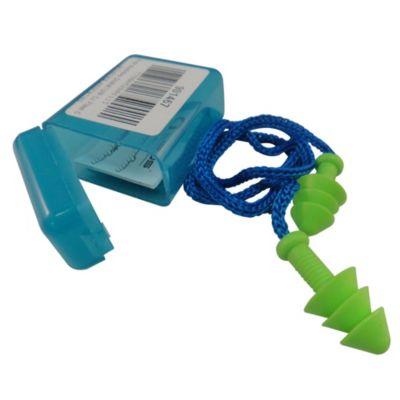 Protector auditivo endoaural con cordón + caja plástica