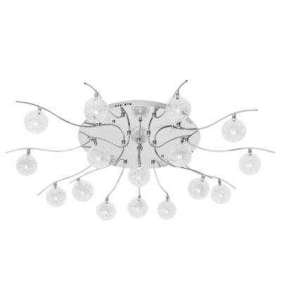 Lámpara de techo dieciséis luces vidrio y cromo con secuenciador de luces a control remoto g4