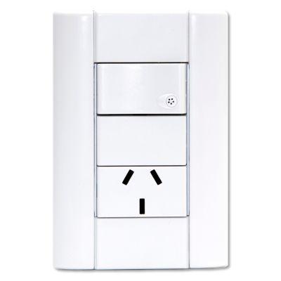 Set armado línea verona 1 interruptor + 1 tomacorriente