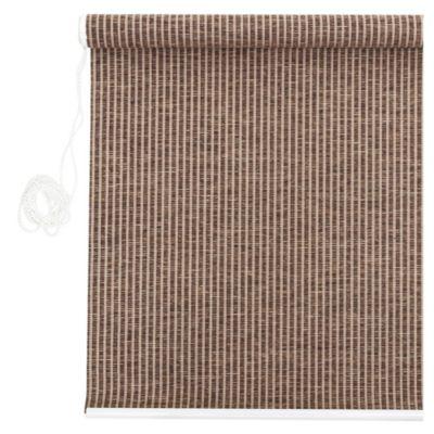 Cortina enrollable yute fina marrón y beige 120 x 160 cm