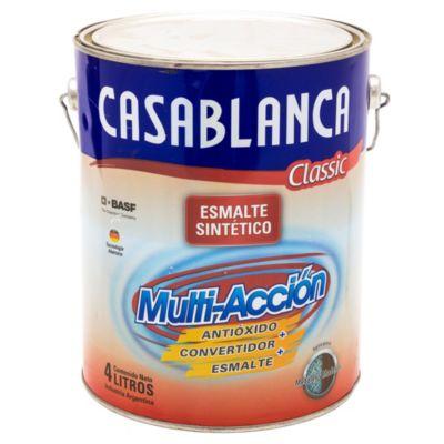 Esmalte classic multiacción blanco satinado 4 l