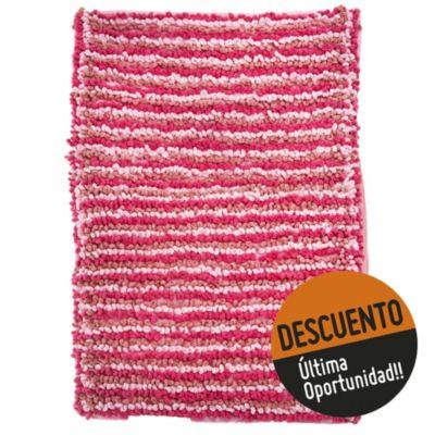 Alfombra para baño tonal 40 x 60 cm fucsia