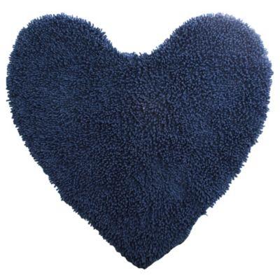 Alfombra corazón shaggy azul 90 x 90