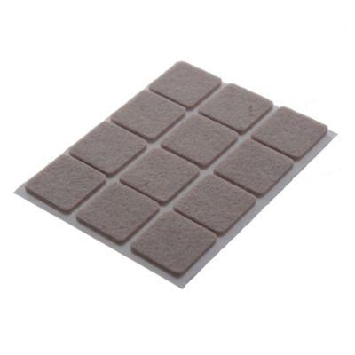 Fieltro adhesivo cuadrado 22 mm beige por 12 unidades