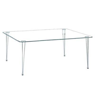 Mesa rectangular vidrio templado
